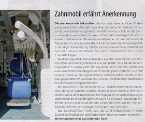 Beitrag Diakonie aktuell: Das Zahnmobil erfährt Anerkennung