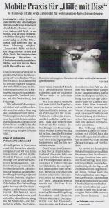 Evangelische Zeitung: Mobile Praxis für Hilfe mit Biss