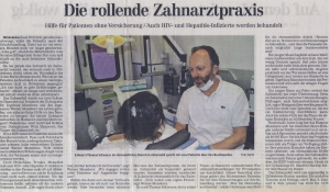 Beitrag Hildesheimer Allgemeine Zeitung: Die rollende Zahnarztpraxis