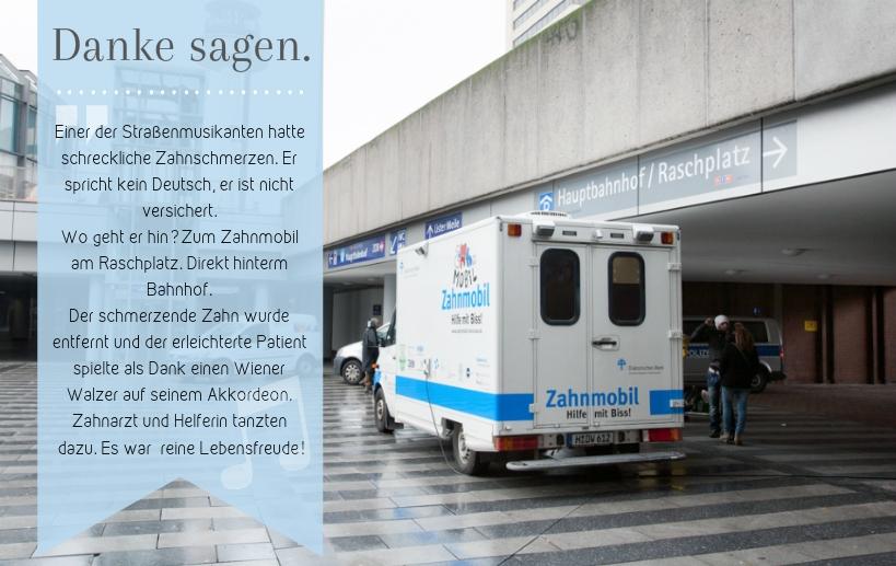 Zahnmobil Hannover am Raschplatz
