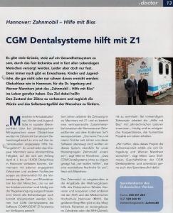 Beitrag .doctor: CGM Dentalsysteme hilft mit Z1