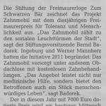 Pressemitteilung der HAZ zum Freimaurer Preis