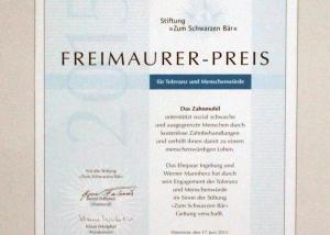 Freimaurer Preis 2015 Zahnmobil Hannover