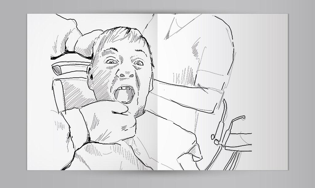 Das Zahnmobil: Zeichnerische Reportage