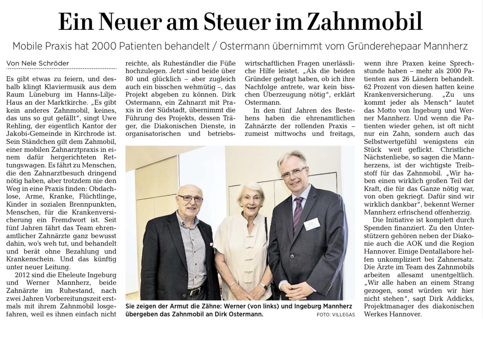 Ehepaar Mannherz übergibt an Dr. Ostermann